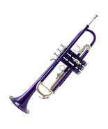 *GREAT GIFT* TOP Quality Bb Purple Lacque Trumpet w Hard Case Care Kit C... - $149.99