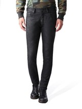 NEW DIESEL MEN'S DESIGNER SLIM CARROT LEG TEPPHAR BLACK JEANS 0669G_STRETCH
