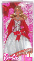 Barbie Doll Sparkle Holiday 2010 Red Silver Dress NRFB - $39.95