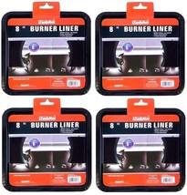4x HEAVY DUTY BLACK STEEL SQUARE REUSABLE DRIP PAN GAS BURNER BIB LINER ... - $12.89