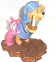 Disney Winnie Pooh Piglet Figurine May Friendship Always Light Your Way  - $59.95