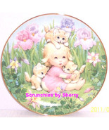 Kitten Companions Cats Girl Blessed Are Ye Collector Plate Danbury Mint ... - $59.95