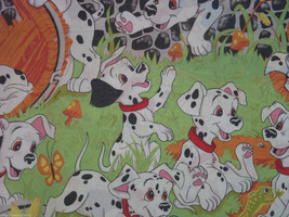 Disney 101 Dalmatians Twin Flat Sheet Vintage Craft Sewing Fabric Kids P... - $34.95