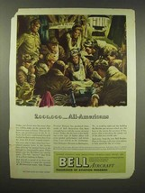 1944 Bell Aircraft Ad - 2,000,000 All-Americans - $14.99