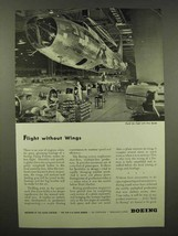 1944 Boeing Aircraft Ad - Flight Without Wings - $14.99