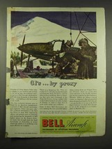 1944 Bell Aircraft Ad - GI's by Proxy - $14.99