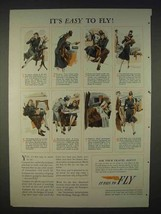 1940 Air Transport Association Ad - Easy to Fly - $14.99