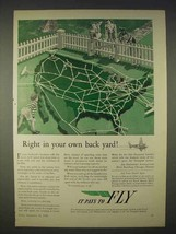 1940 Air Transport Association Ad - In Your Back Yard - $14.99