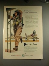 1956 Douglas F4D Skyray Plane Ad - Deck to Stratosphere - $14.99