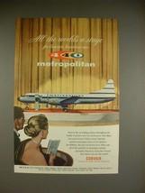 1956 Convair Metropolitan 440 Airplane Ad - $14.99