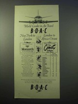 1952 BOAC Airlines Ad - World Leader in Air Travel - $14.99
