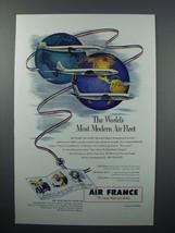 1953 Air France Ad - World's Most Modern Air Fleet - $14.99