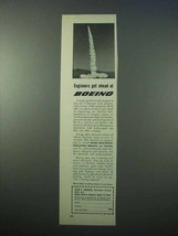 1953 Boeing Aviation Ad - Engineers Get Ahead - $14.99