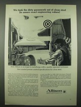1965 GM Allison Ad - Took Dirty Guesswork Out of Clean Steel - $14.99
