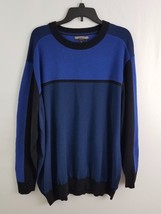 Alfani Big & Tall Mens Colorblocked Sweater Timeless Navy 2XB - $28.99