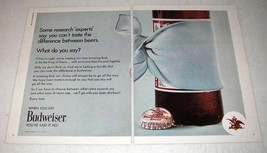 1971 Budweiser Beer Ad - Can't taste the Difference - $14.99