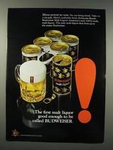 1971 Budweiser Malt Liquor Ad - $14.99