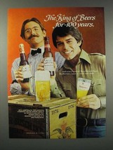1976 Budweiser Beer Ad - King for 100 Years - $14.99