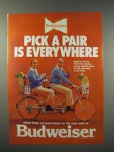 1978 Budweiser Beer Ad - Pick a Pair is Everywhere - $14.99