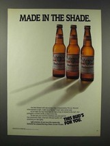 1988 Budweiser Beer Ad- Made in the Shade - $14.99