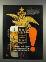 1971 Budweiser Malt Liquor Ad - Good Enough - $14.99