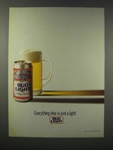 1989 Bud Light Beer Ad - Everything Else Just a Light - $14.99