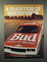 1988 Budweiser Beer Ad - Junion Johnson, Terry Labonte - $14.99