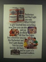 1988 Budweiser Beer Ad - Join With USA Today - $14.99