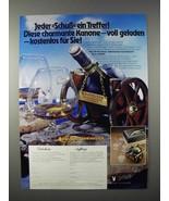 1977 Courvoisier Cognac Ad - in German - Cannon Holder - $14.99