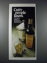 1970 Cutty Sark Scotch Ad - $14.99