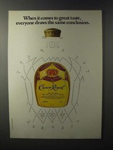 1981 Seagram's Crown Royal Whisky Ad - Draws Conclusion - $14.99