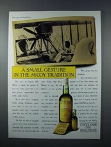 1987 Cutty Sark Scotch Ad - Small Gesture in Tradition - $14.99