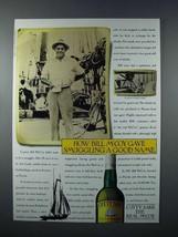 1987 Cutty Sark Scotch Ad - Gave Smuggling Good Name - $14.99