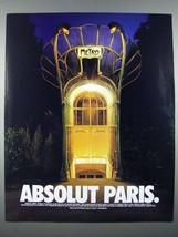 1999 Absolut Vodka Ad - Absolut Paris - $14.99