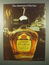 1980 Seagram's Crown Royal Ad - Chairman of the Bar - $14.99