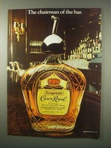 1979 Seagram's Crown Royal Whisky Ad - Chairman of bar - $14.99