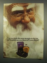 1979 Seagram's Crown Royal Whisky Ad - Santa Claus - $14.99