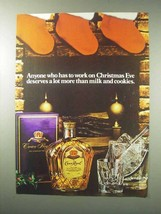 1984 Seagram's Crown Royal Whisky Ad - Christmas Eve - $14.99