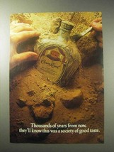 1985 Seagram's Crown Royal Whisky Ad - Years from Now - $14.99