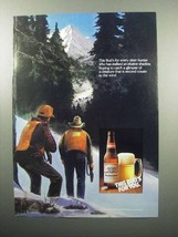1989 Budweiser Beer Ad - For Every Deer Hunter - $14.99