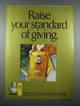 1976 Old Grand Dad Bourbon Ad - Raise Your Standard - $14.99