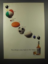 1991 Jim Beam Whiskey Ad - Come Back to the Basics - $14.99