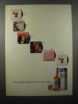 1990 Jim Beam Whiskey Ad - Back to the Basics - $14.99