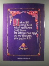 1987 Seagram's Crown Royal Whisky Ad - Jack and Jill - $14.99