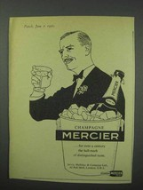 1960 Mercier Champagne Ad - Distinguished Taste - $14.99