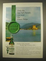 1963 Usher's Green Stripe Scotch Ad - Only the First - $14.99