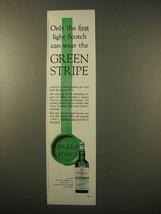 1963 Usher's Green Stripe Scotch Ad - $14.99