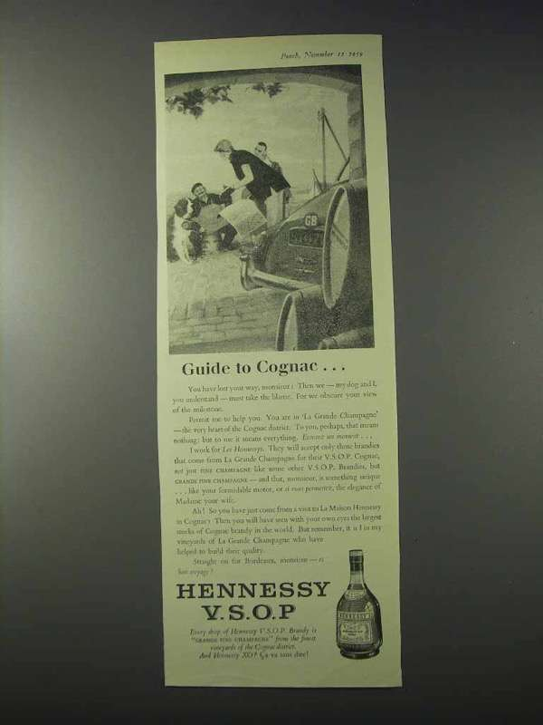 Primary image for 1959 Hennessy V.S.O.P. Cognac Ad - Guide To Cognac