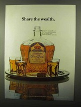 1971 Seagram's Crown Royal Whisky Ad - Share Wealth - $14.99