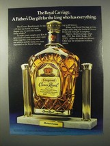 1980 Seagram's Crown Royal Ad - The Royal Carriage - $14.99